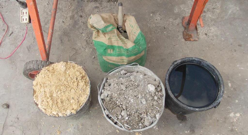 Основные компоненты для формирования бетона