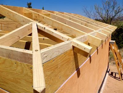 этап изготовления крыши