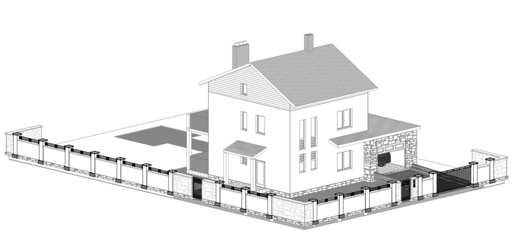 Проекты коттеджей: двухэтажное сооружение из бюджетных материалов