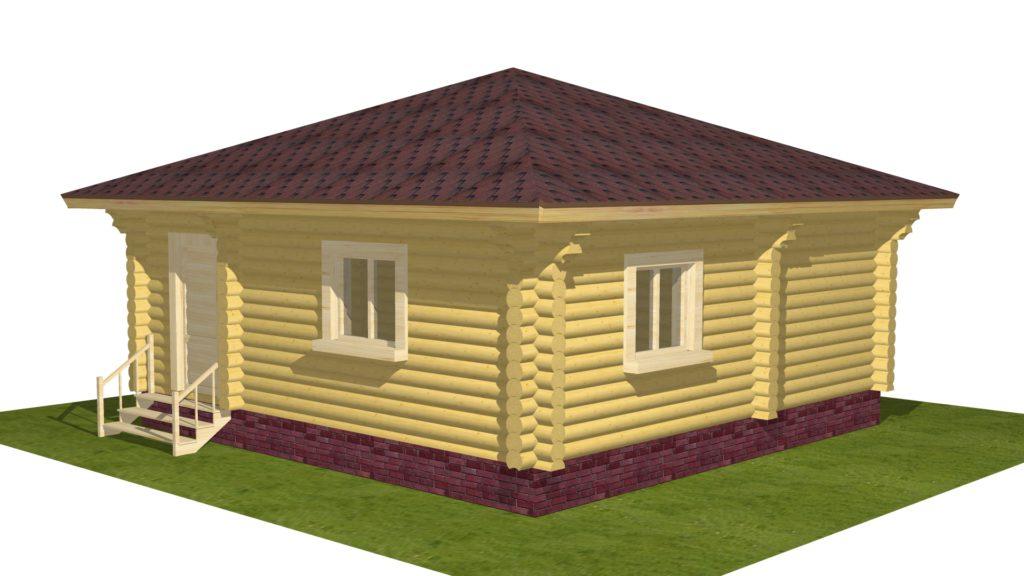 Проекты домов: простой одноэтажный домик