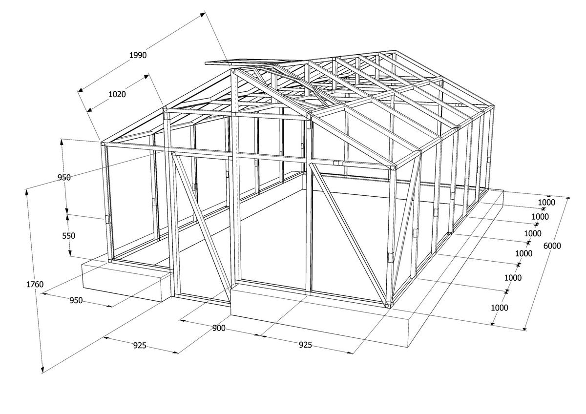 Двухскатная крыша из поликарбоната своими руками