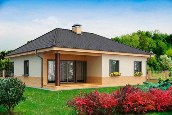 Комфортным и просторным может получиться одноэтажный дом 10×10