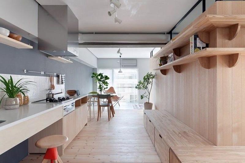 Визуальное увеличение пространства перегородками и мебелью