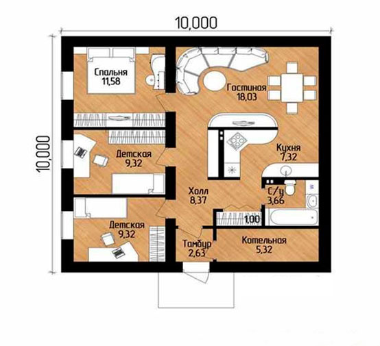 Пример схемы дома