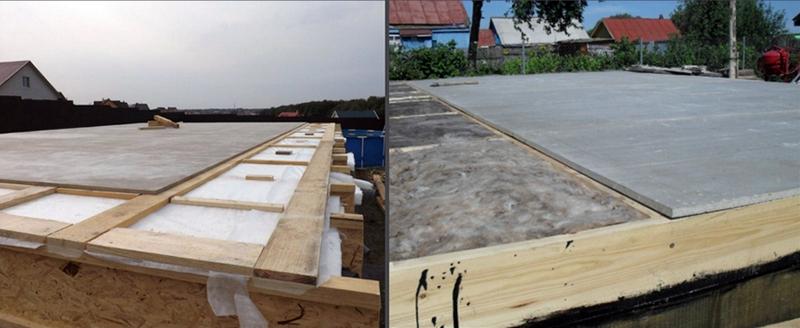 Применение плит - стяжка пола второго этажа