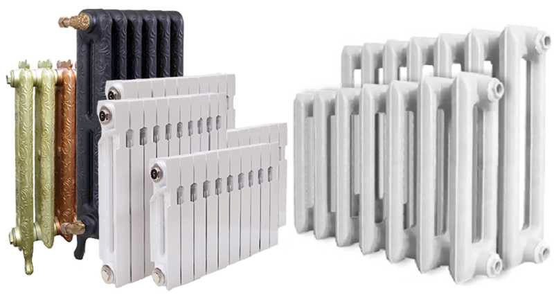 Разновидности радиаторов и батарей