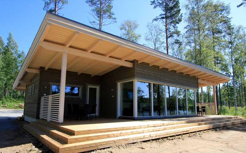 Дом из подготовленной древесины