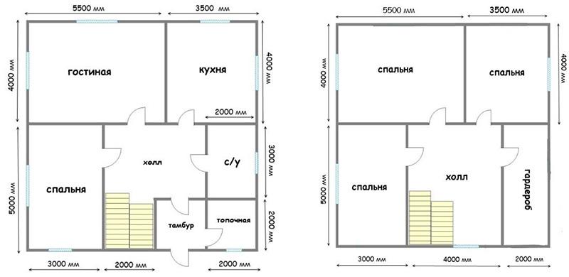 Одноэтажный дом 9 х 9 м