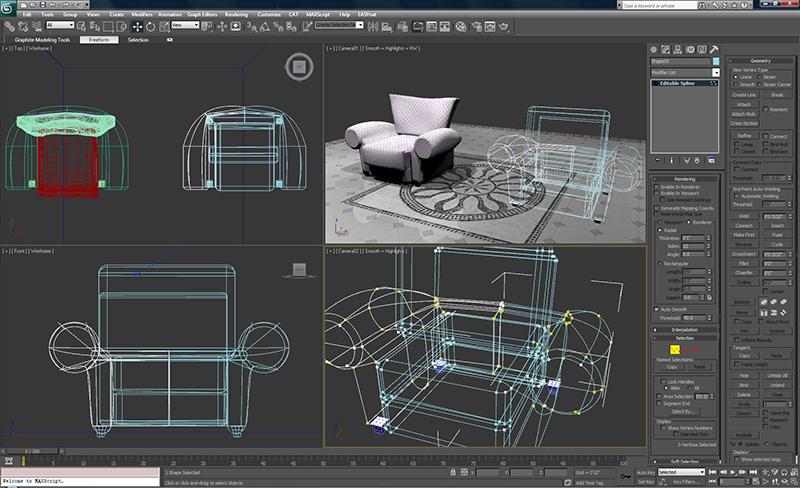 3-D MAX – программа для реализации любых проектных решений