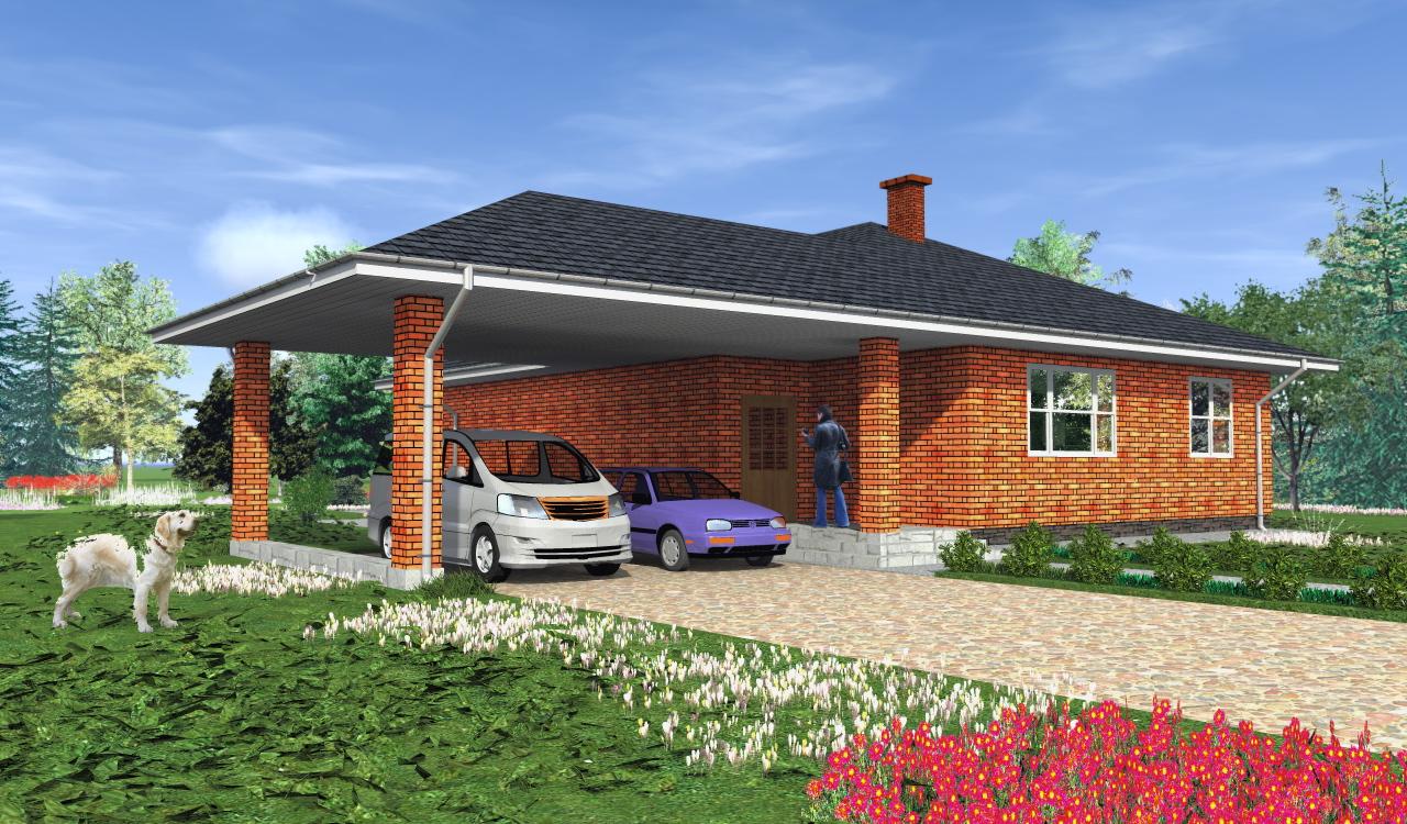 3D-моделирование возможного варианта жилого дома