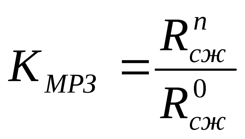 Формула расчета морозостойкости