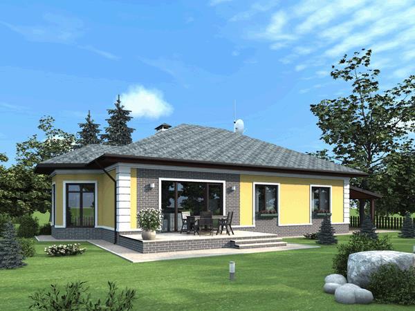Одноэтажный дом - уютное жилье для небольшой семьи