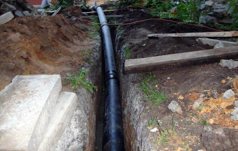 Укладка утепленных водопроводных труб