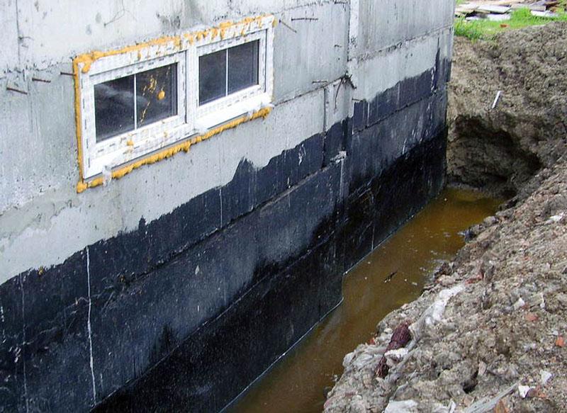 Затопление основания грунтовыми водами