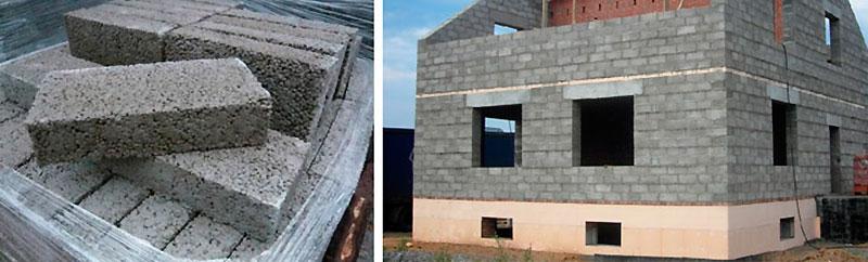 Фундамент дома из керамитобетонных кирпичей