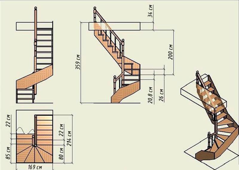 Винтовая прямоугольная конструкция