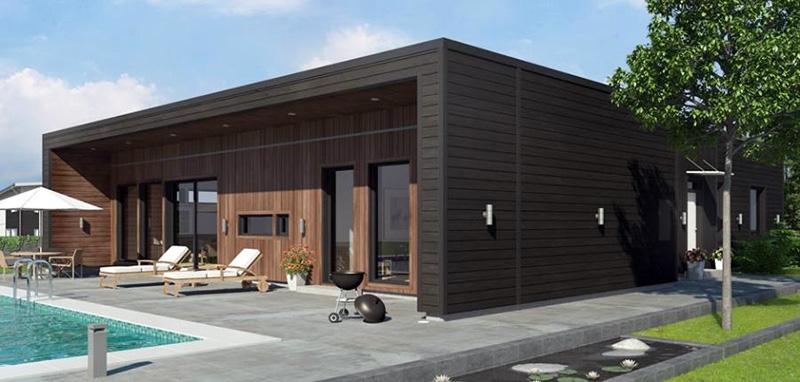 Дом из SIP-панелей в стиле Hi-tech