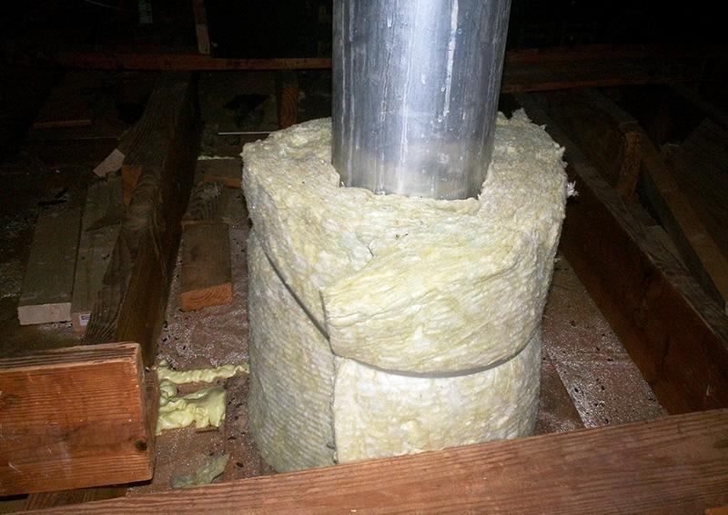 Утепление железной трубы минеральной ватой