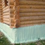 Утепление деревянного цоколя жидким пенополиуретаном