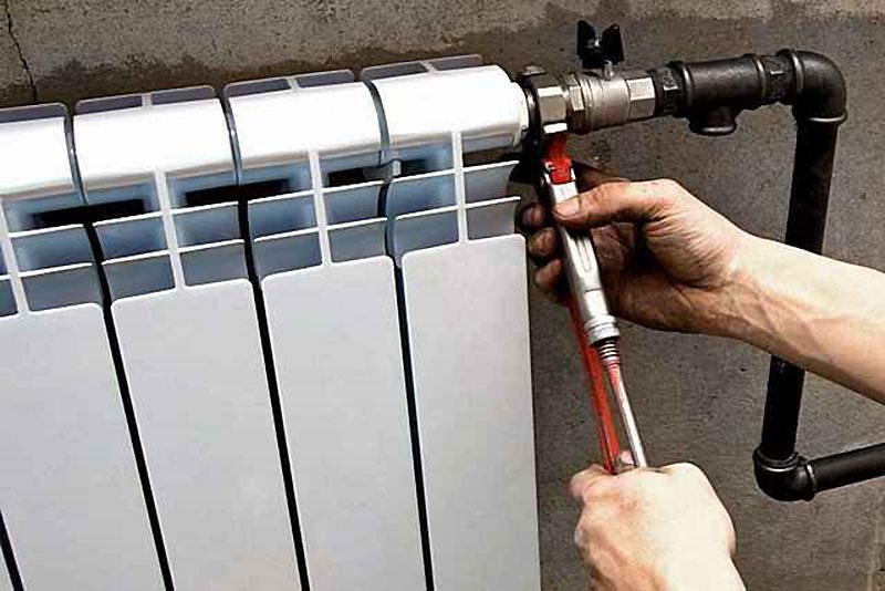 Подключение алюминиевого радиатора к стальным трубам
