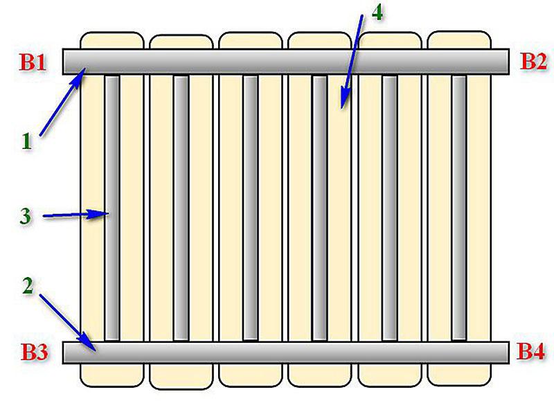 Схематичное подключение радиатора