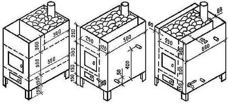 Образец чертежа печи из металла для самостоятельного изготовления