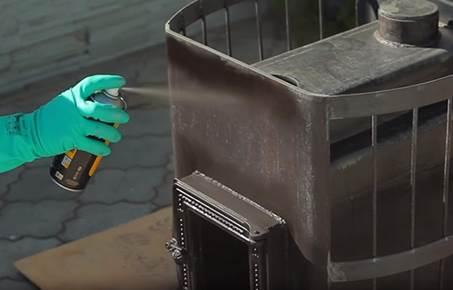 Нанесение термоустойчивой эмали на готовую конструкцию