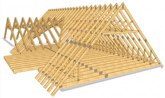 Каркас из деревянного бруса прямоугольного сечения