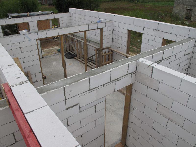 Пример кладки из газобетонных блоков