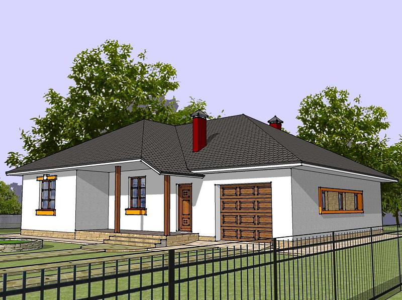Одноэтажный дом – комфорт, уют и максим удобства