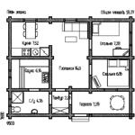 план жилого дома с сауной