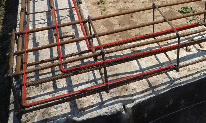 Непосредственное выполнение анкеровки арматуры по бетону