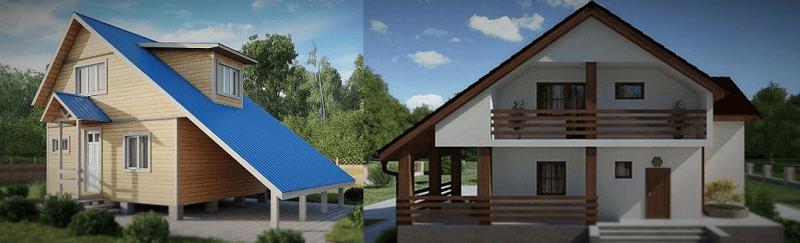 Мансардная крыша с асимметричными скатами
