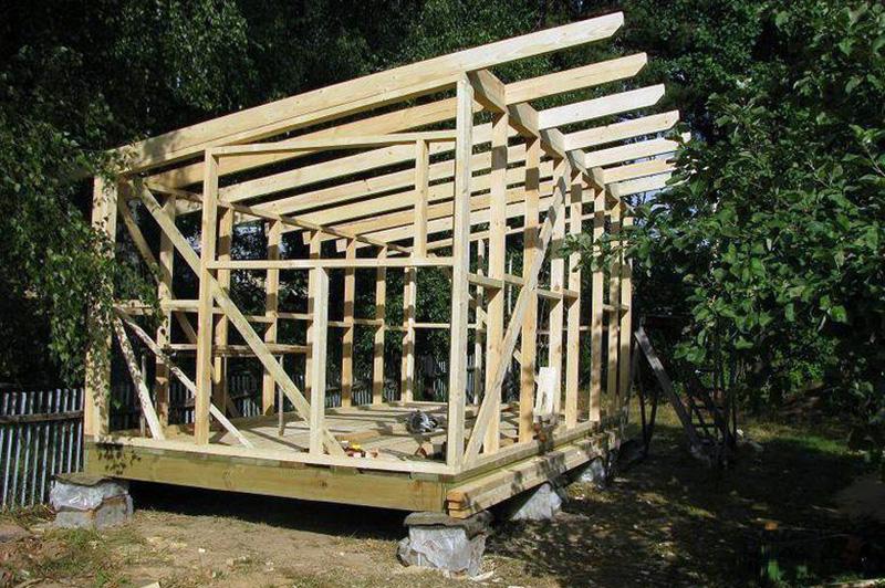 односкатная крыша схема стропил