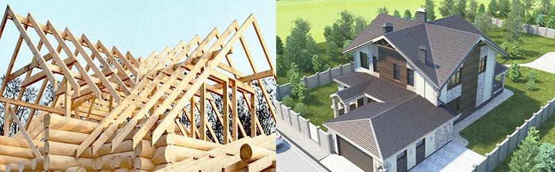 Восьмискатная крыша - фото