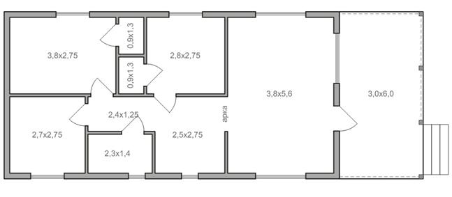 Схема одноэтажного дома