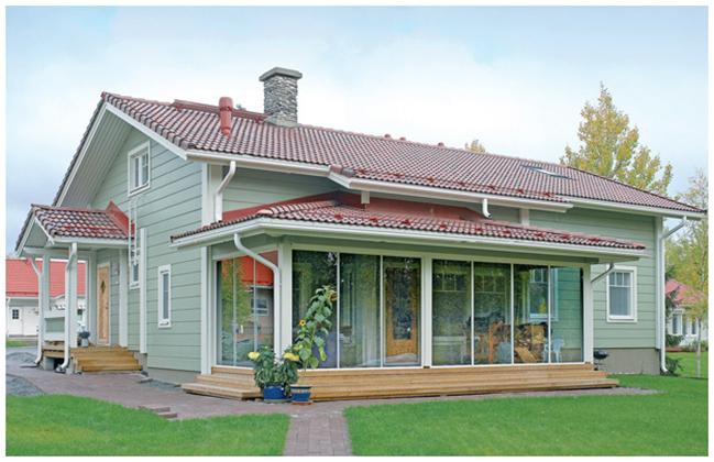 Одноэтажный коттеджный домик с мансардой