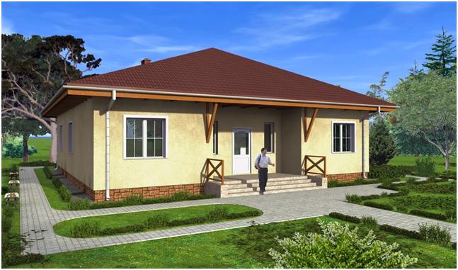 Один из удачных проектов одноэтажного дома