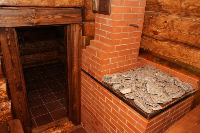 Каменная печь для прогрева бани