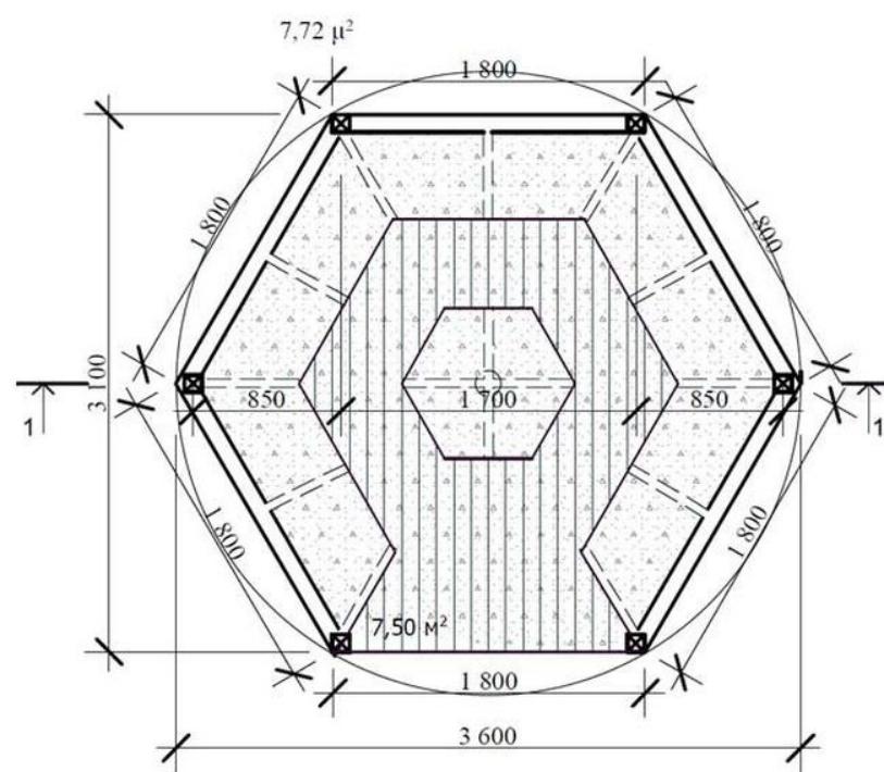 садовая беседка шестиугольная