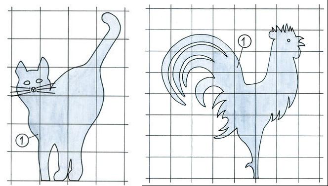 Флажки в виде кота и петуха