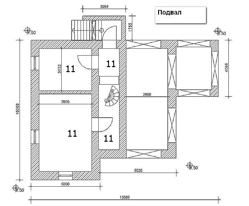 план подвал в доме