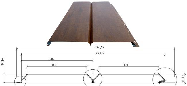 Размеры металлосайдинга под древесину