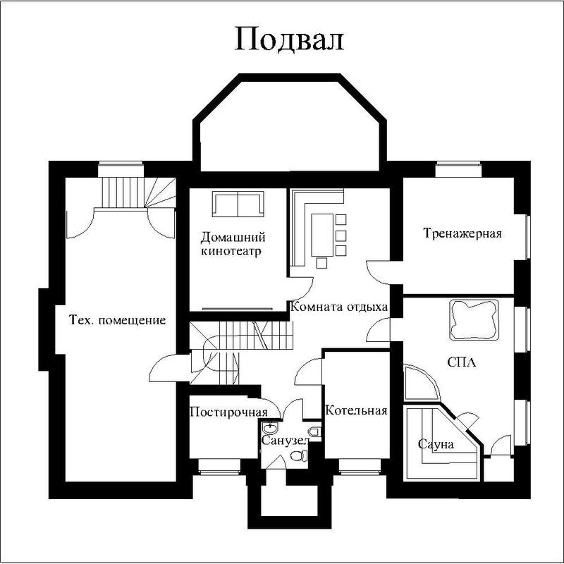 дом с подвалом план