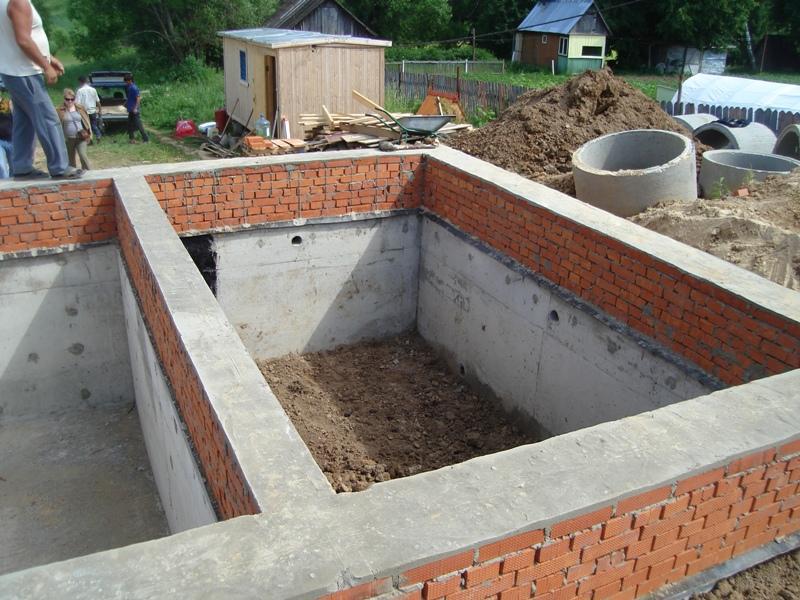 Процесс создания фундамента одноэтажного дома