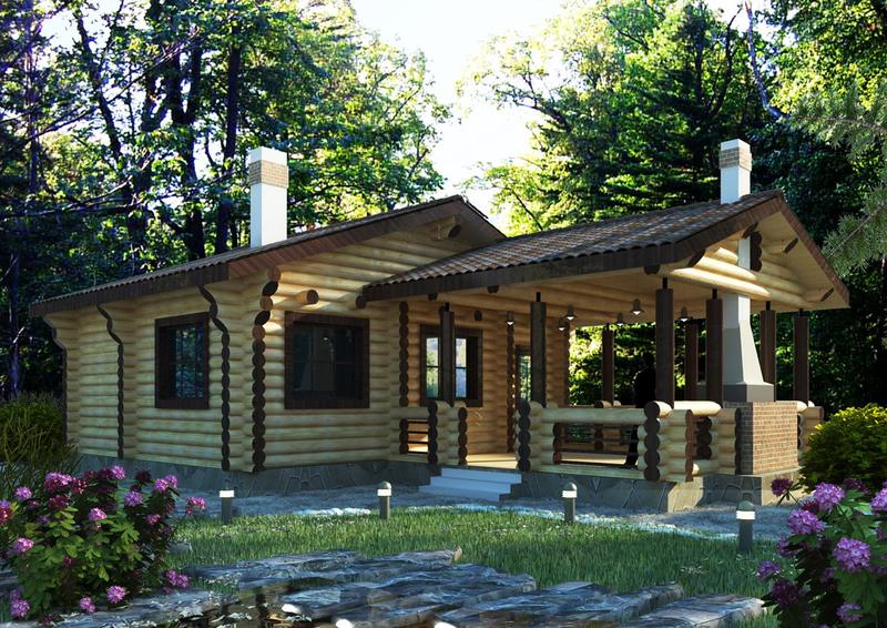 Баня из дерева – наиболее оптимальный вариант для дачи