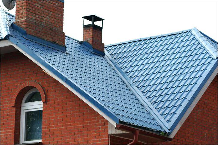 Готовое кровельное покрытие односкатной крыши
