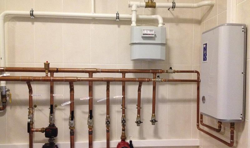 схема установки газового котла в частном доме