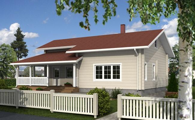 Одноэтажный дом с просторным участком