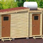 Сарай, туалет и душ под одной крышей
